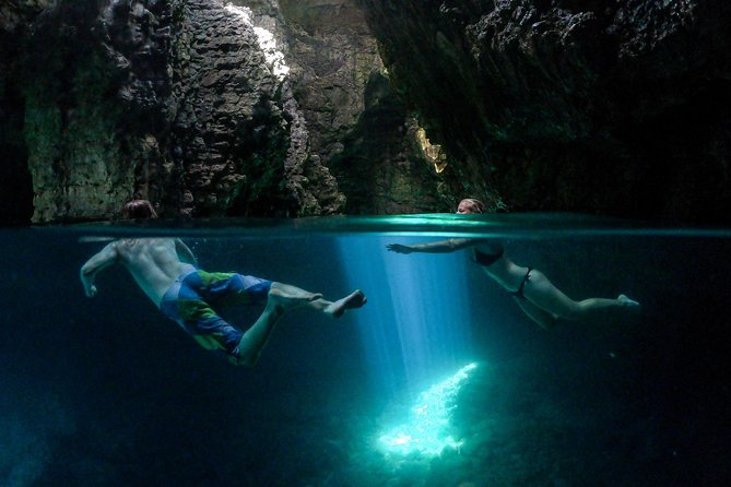 Explore the cave by Kayak