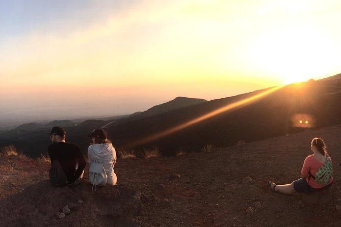 Etna tour at sunset