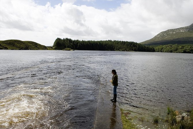 River fishing for Wild Brown Trout. Ballynahinch River, French speaking Ghillie