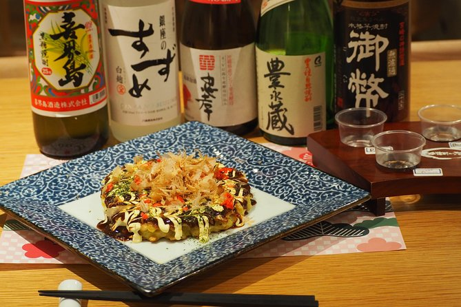 Shochu Paring with Izakaya Dishes (Okonomiyaki and Stir-Fried Pork with Miso)