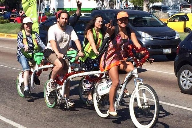Acapulco City en Food Tour op een tandemfiets