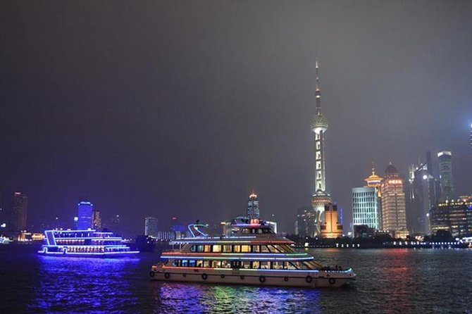 Tour privado por la noche: Crucero por el río Huangpu, el Bund y Nanjing Road