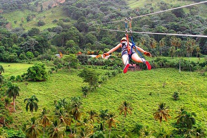 Aventure dans une balançoire de l'extrême et en tyrolienne à Punta Cana