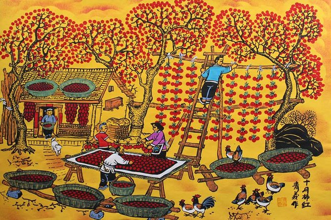 All Inclusive Huxian Day Tour From Xian: Cook and Paint With Local Farmers