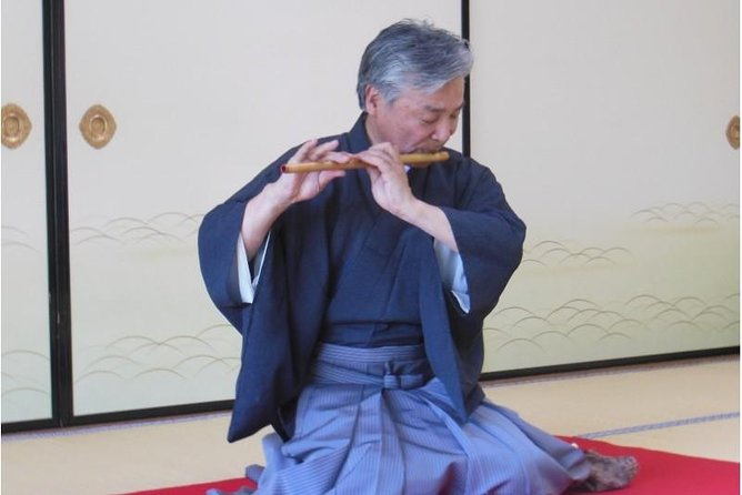 Traditional Music & Shinobue (flute) Experience at Daisho-in Temple of Miyajima