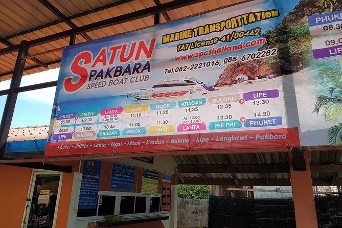 Koh Lipe to Hat Yai Airport by Satun Pakbara Speed Boat and Shared Minivan
