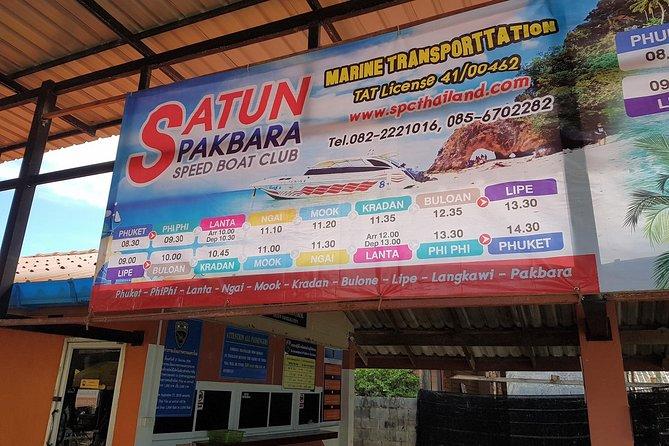 Koh Lipe to Koh Tarutao by Satun Pakbara Speed Boat