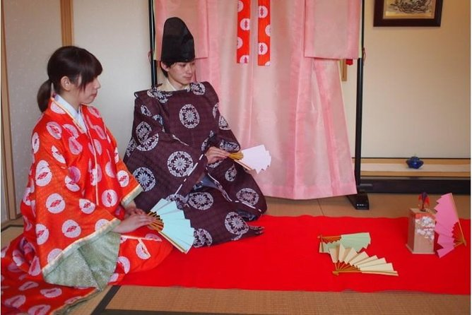 Tosenkyo Fan-tossing Game & Heian-style Kimono Experience at Daisho-in Temple 