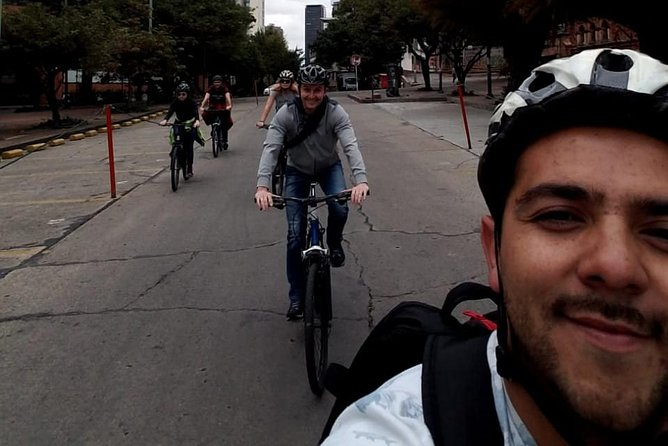 Private Bogotá Bike Tour - 4 hours. Includes tour guide, bikes, and snacks.
