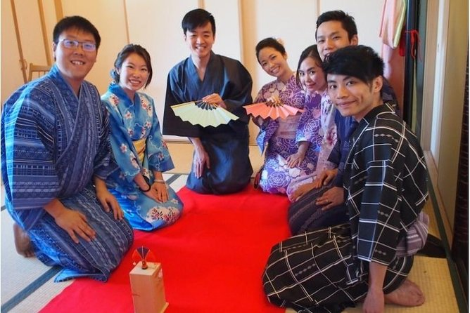 Tosenkyo Fan-tossing Game and Yukata Experience at Daisho-in Temple of Miyajima