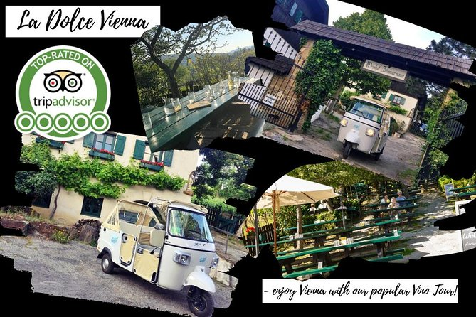 """La Dolce Vienna - Ape Sightseeing Tour """"Vino"""" for 2 - no indoor, save activity"""