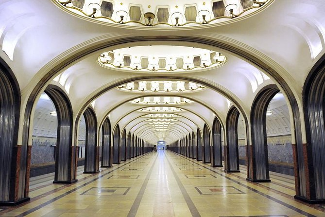 Underground Palaces of Moscow Metro and Arbat Street Private Tour