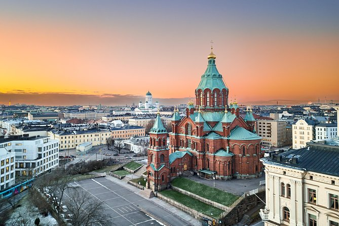 Aerial view of Uspenski Cathedral