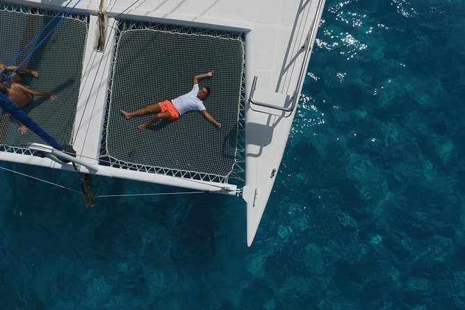 The luxury catamaran offers enough space for everyone