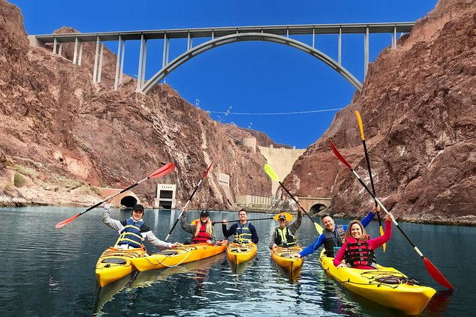 Hoover Dam Kayak Tour on Colorado River with Optional Pickup in Las Vegas