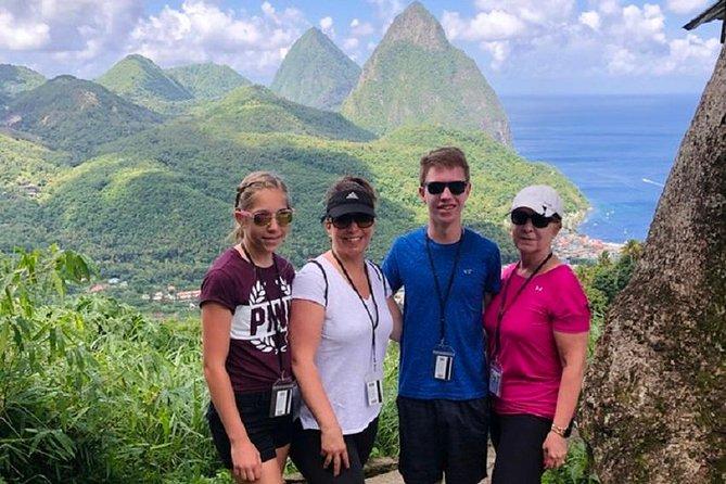 Tour de St Lucia Castries a Pitons
