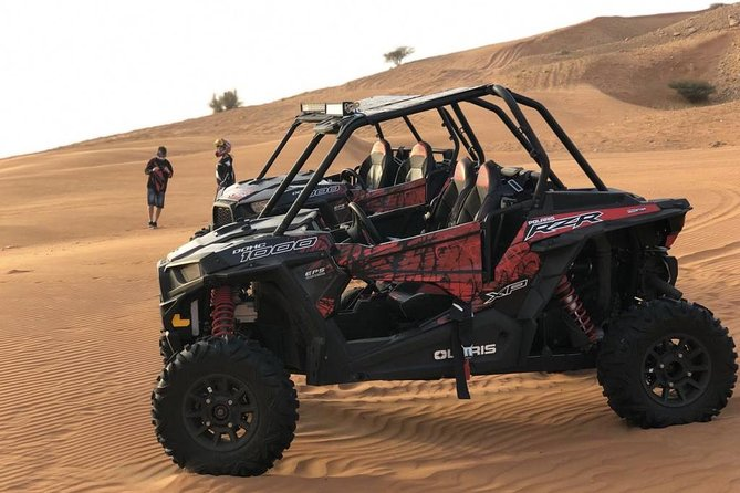 Afternoon Dubai Dune Buggy On Red Dunes