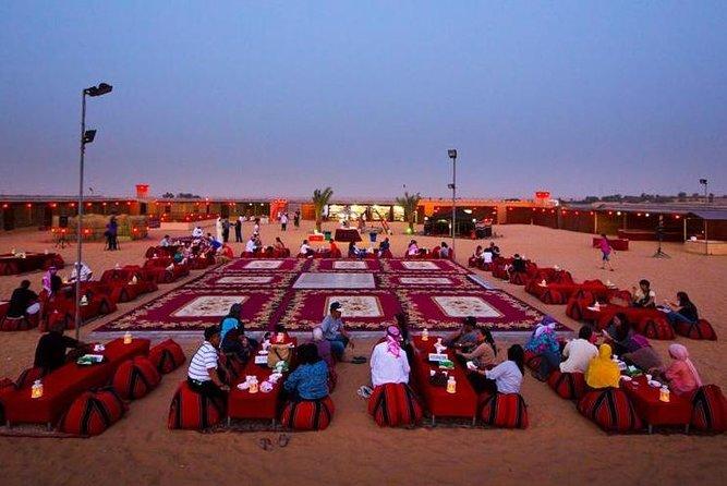 Dinner in Dubai Desert with Camel Ride, BBQ Dinner and Belly Dance