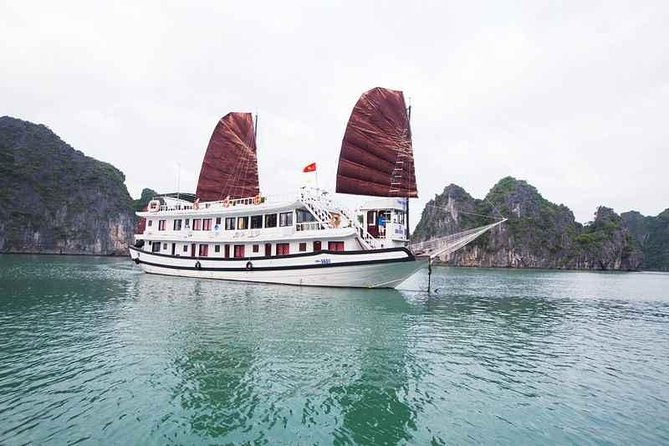 Boutique Bai Tu Long Bay Cruises 2 Days Tour -Cave,Kayak,Swimming,Squid Fishing