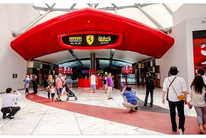 Abu Dhabi City Tour with Ferrari World Ticket-Enjoy World Fast Roller Ride