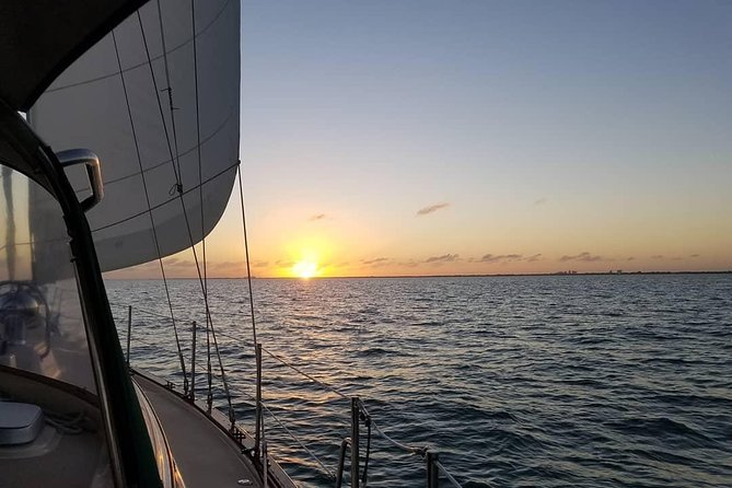 Three-Hour Private Sunset Sailboat Tour on Biscayne Bay for Up to Six