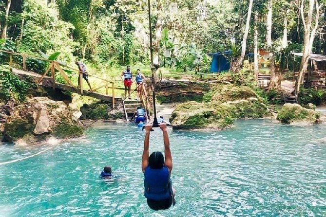 Irie Blue Hole Adventure & Bamboo Blu Beach Club Experience from Port Antonio