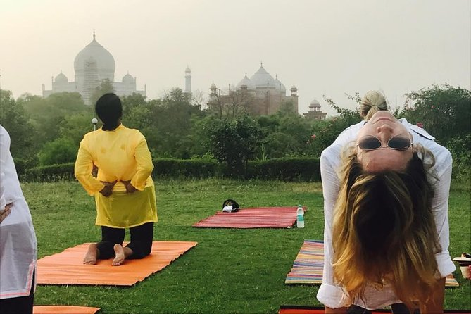Yoga Facing Taj