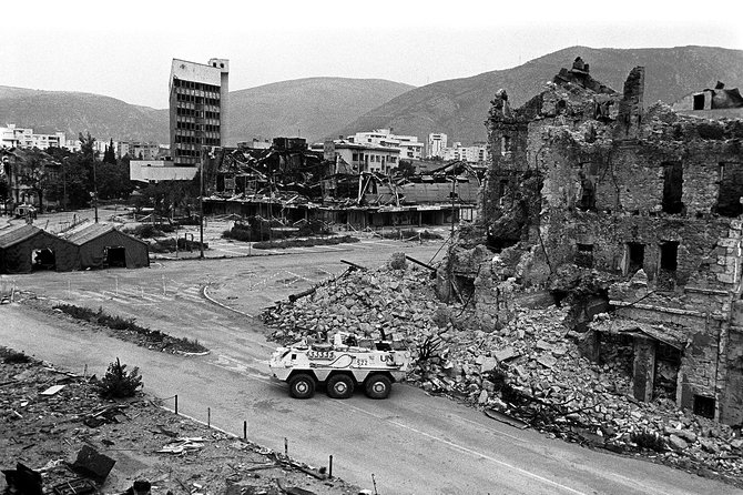 War Photo Exhibition Tour in Mostar