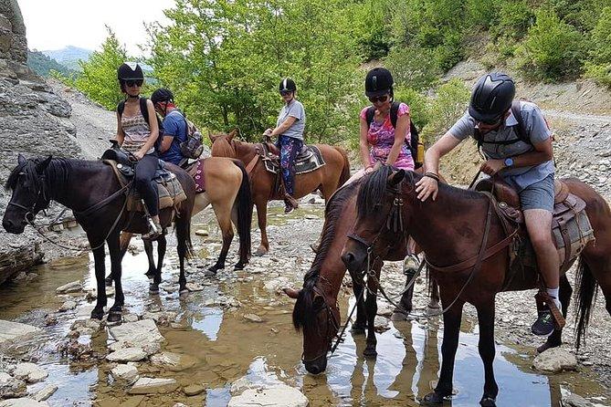 Horseback riding in the edge of Lengarica Canyon, Permet