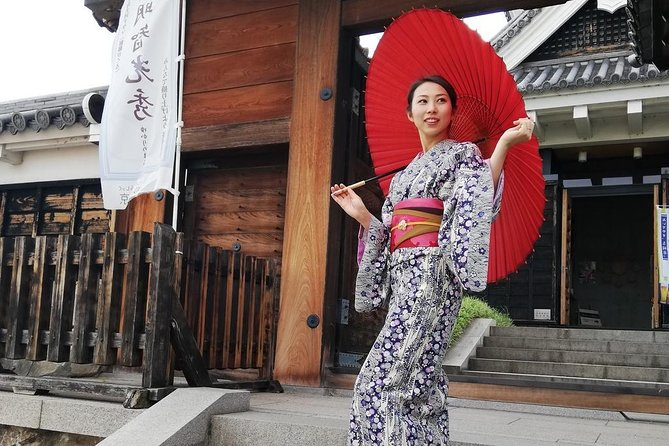 Get you dressed in Kimono and taste sake and go to the photo spot. photo 1