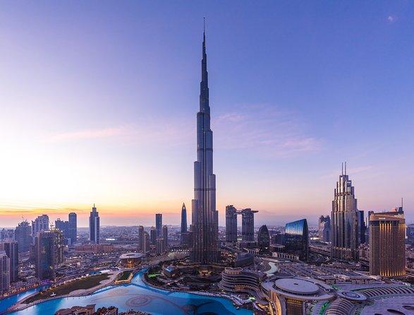 Entrada general para la planta alta del Burj Khalifa, pisos 125 y 124