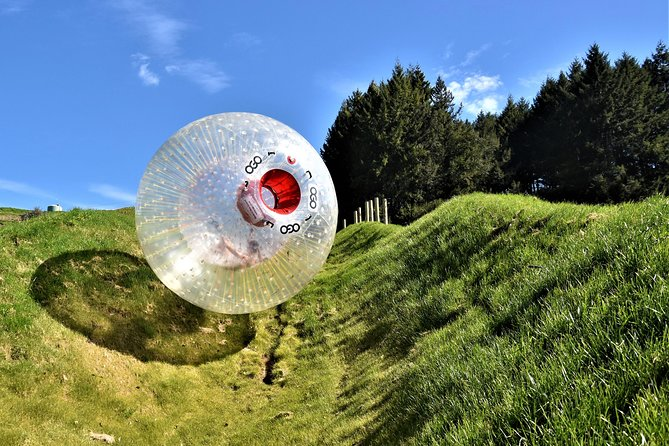 Zorb Inflatable Ball Ride from Mount Ngongotaha in New Zealand