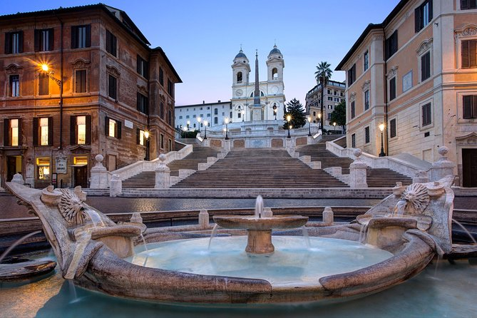 Semi-private Rome by night: Piazza di Spagna and Navona, Trevi fountain, Pantheon