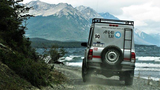 Recorrido de aventura en vehículo 4WD por los lagos de Tierra del Fuego desde Ushuaia