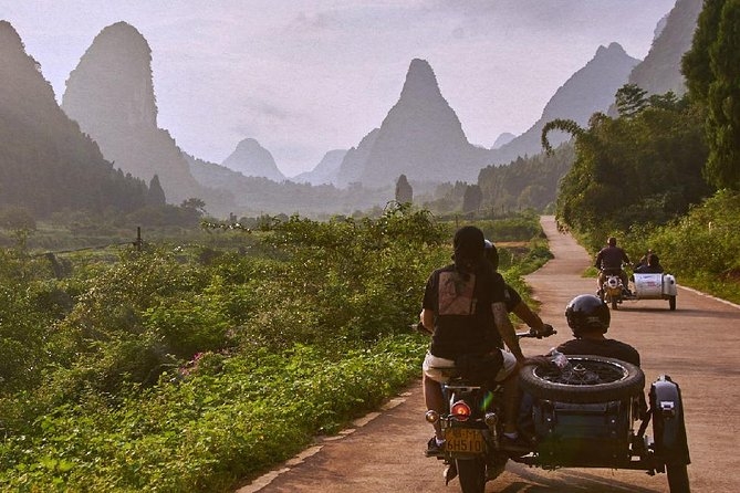 Vintage Sidecar Adventure through Guilin Countryside