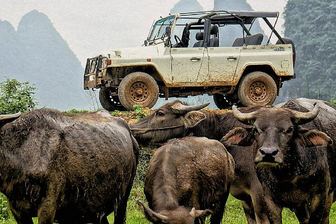 Vintage Jeep 7-hour Adventure through Guilin Countryside