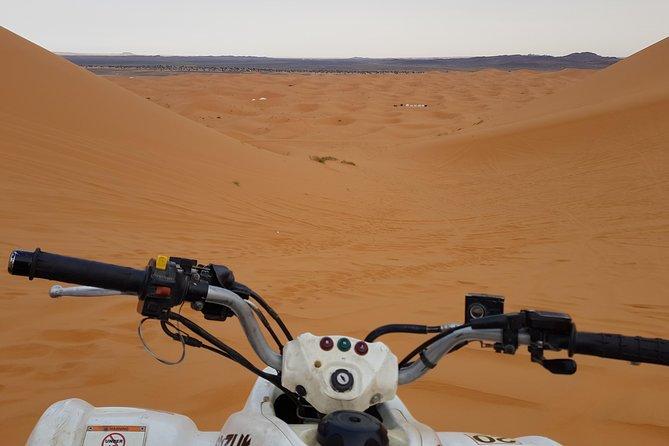 Quad Biking in Desert Dunes Merzouga Erg Chebbi