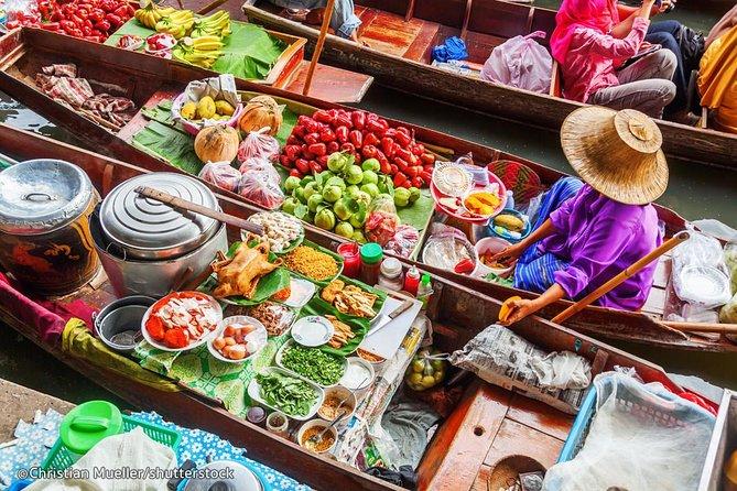 Marché flottant de Bangkok Damnern Saduak, atelier culturel thaïlandais et village biologique