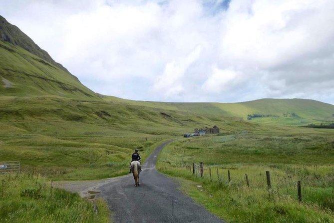 Gleniff Horse Shoe valley ride. Moneygold, Co Sligo. Guided. 5 hours.