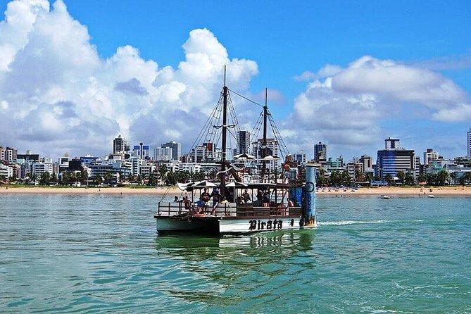 Passeio Piscinas Naturais de Picãozinho - Embarcação Pirata - João Pessoa-PB