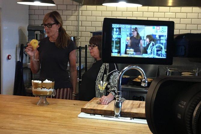 Chef Regina filming with Allison Janey for Regina's Kitchen Natchez YouTube Channel