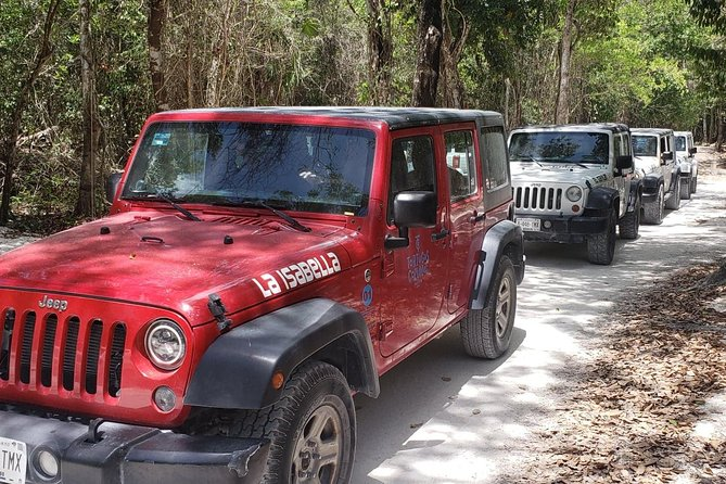 Cozumel Jeep Adventure to Jade Caverns with Lunch and Snorkel