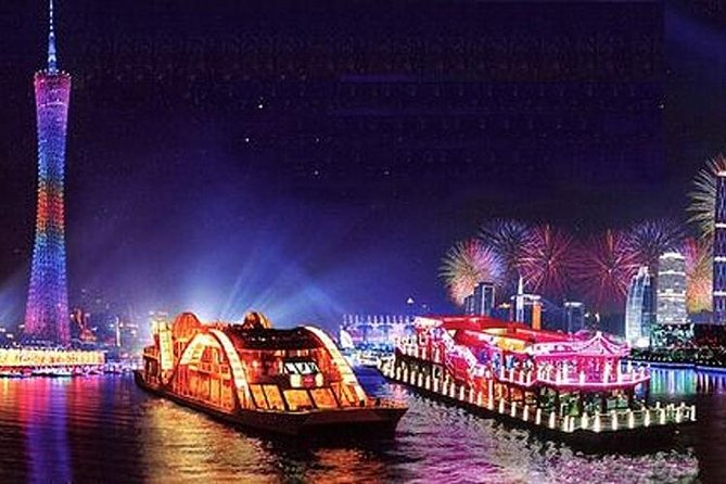 Guangzhou Night Pearl River Cruise VIP Seating with Private Transfer