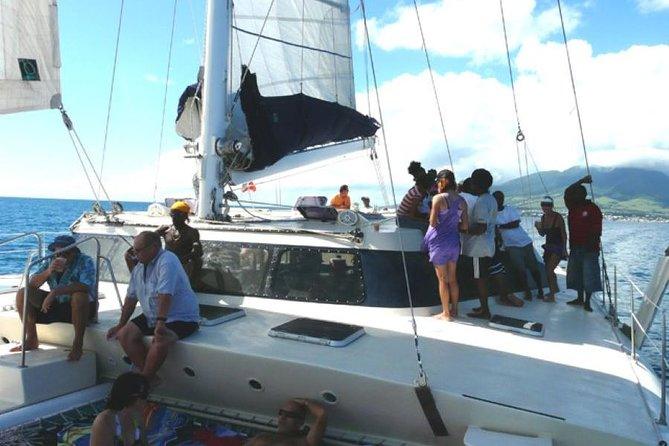Catamaran Party Cruise to Nevis from St Kitts (Reconfirm 48hrs prior)