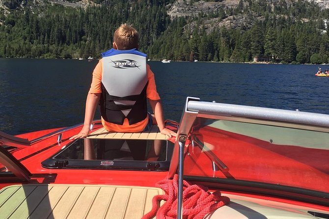 Private Boat Charter for 5 with Captain. Lake Tahoe with Kids! Boating & Ecology