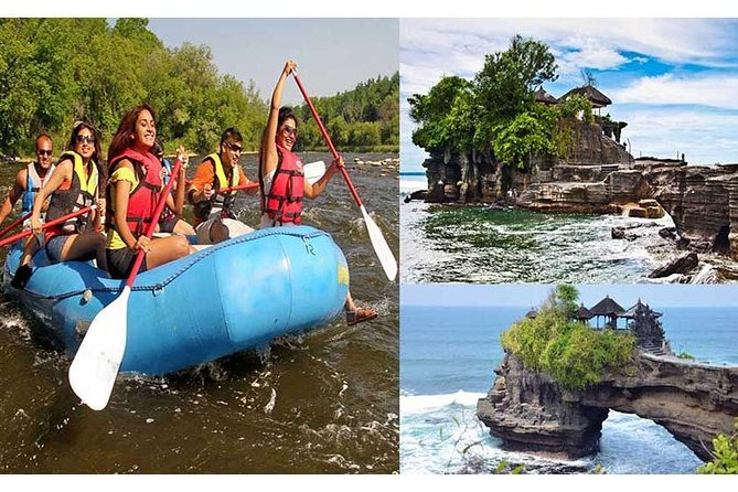 Private Tour: Ayung River rafting with Tanah Lot Sunset Tour