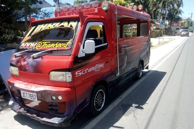 Driver's side of the Multicab in Siquijor Island Philippines
