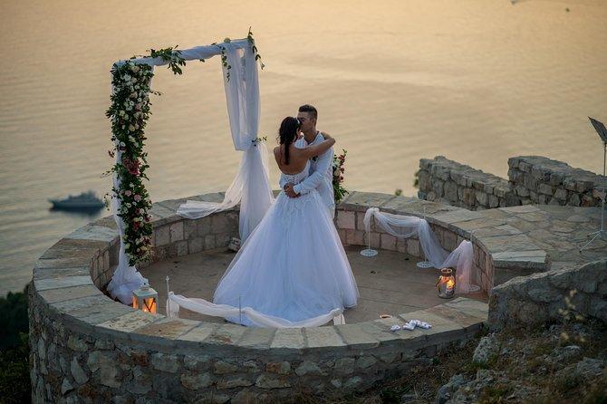Panoramic photo wedding tour Sveti Stefan