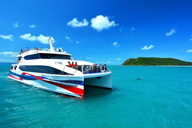 Koh Phangan to Surat Thani Airport by Lomprayah Catamaran and Shared Minivan