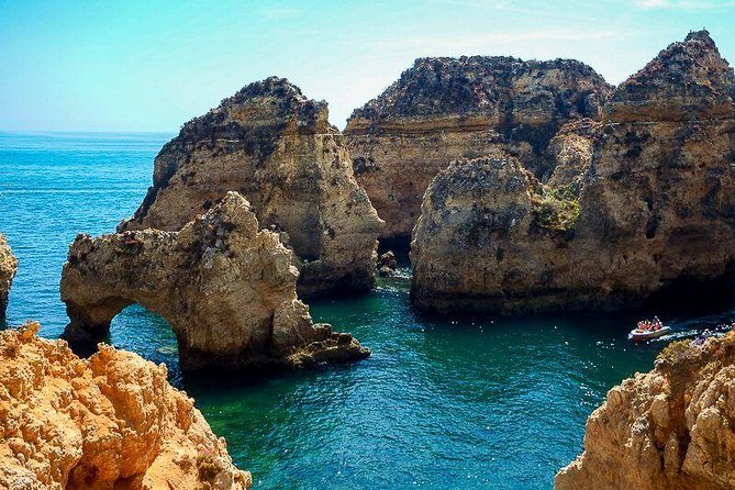 Ponta da Piedade and Benagil Cave in one tour from Portimao. Private tour